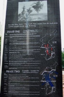 Korean War Phases One and Two image. Click for full size.
