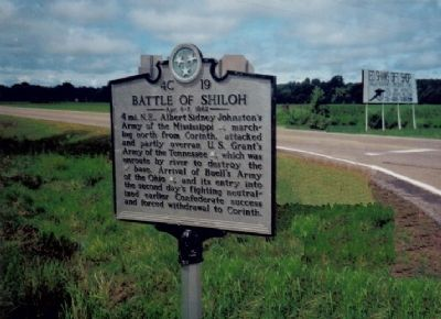 Battle of Shiloh Marker image. Click for full size.