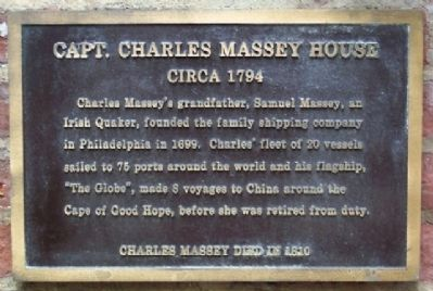 Capt. Charles Massey House Marker image. Click for full size.