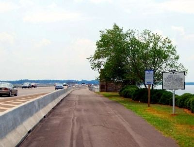 World War II Bombing Ranges Marker -<br>Looking South Along North Lake Drive image. Click for full size.