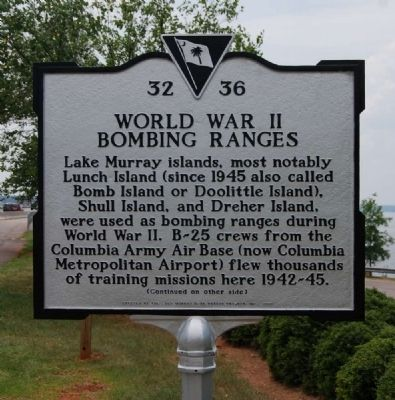 World War II Bombing Ranges Marker - Front image. Click for full size.