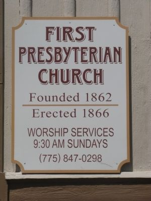 The Second First Presbyterian Church Marker image. Click for full size.