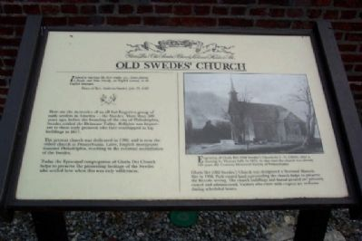 Old Swedes' Church Marker image. Click for full size.