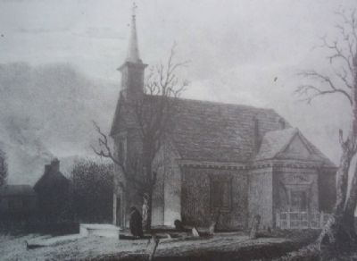 Old Swedes' Church Engraving on Marker image. Click for full size.