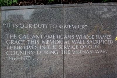 Philadelphia Vietnam Veterans Memorial Duty to Remember image. Click for full size.