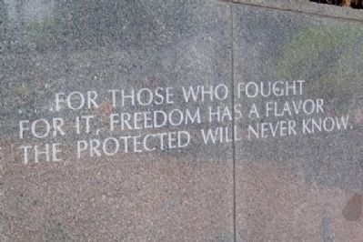 Philadelphia Vietnam Veterans Memorial Freedom Quote image. Click for full size.