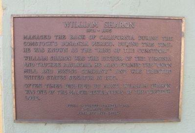 William Sharon Marker image. Click for full size.