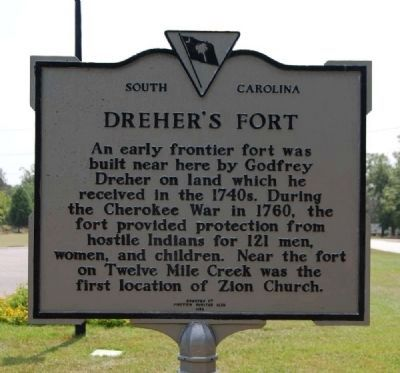 Dreher's Fort Marker image. Click for full size.