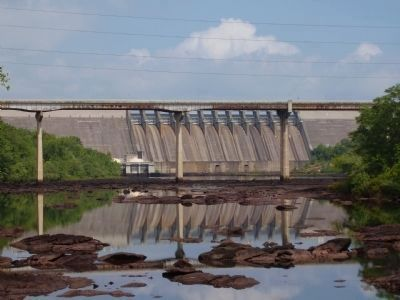 The Louie Morris Bridge and Hartwell Dam in the Background image. Click for full size.