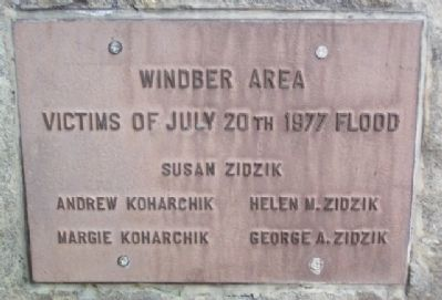 Windber Area Victims of July 20th 1977 Flood Marker image. Click for full size.