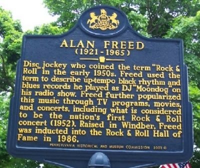 Alan Freed Marker image. Click for full size.