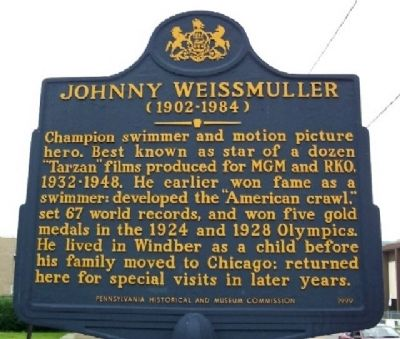 Johnny Weissmuller Marker image. Click for full size.