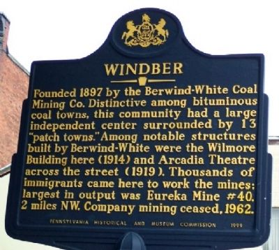 Windber Marker image. Click for full size.