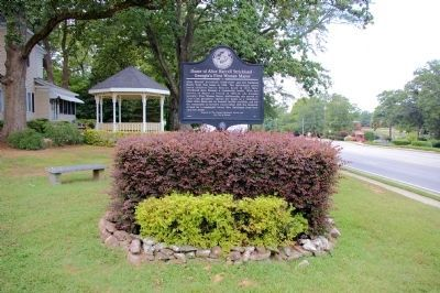 Home of Alice Harrell Strickland - Georgia's First Woman Mayor Marker image. Click for full size.