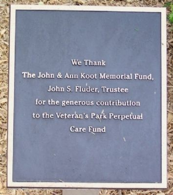 Windber Veteran's Park Perpetual Care Marker image. Click for full size.