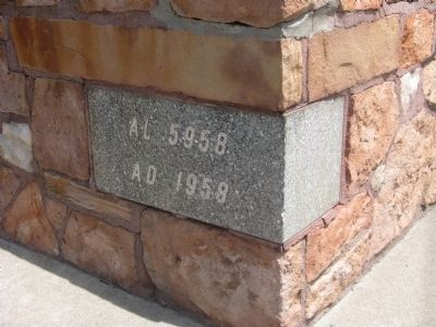 Cornerstone on Monument image. Click for full size.