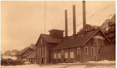 Bonner Shaft Building - Gould & Curry Mine image. Click for full size.