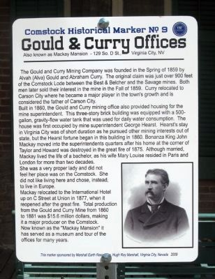 Gould & Curry Offices Marker image. Click for more information.