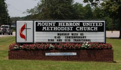Mt. Hebron United Methodist Church Sign image. Click for full size.