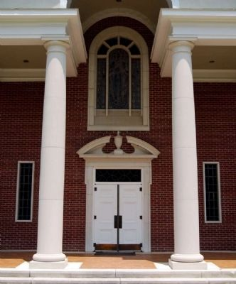 Mt. Hebron United Methodist Church Portico image. Click for full size.