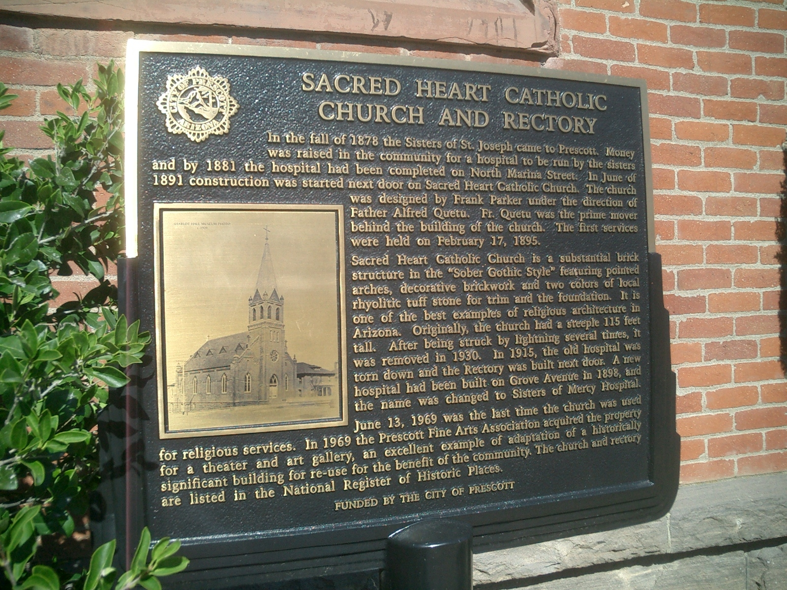 Sacred Heart Catholic Church and Rectory Marker