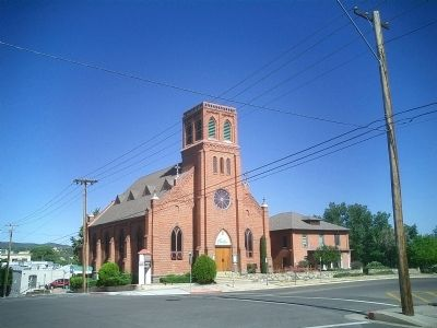 Street view of Sacred Heart Catholic Church image. Click for full size.