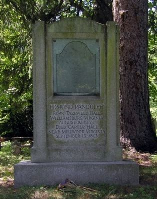Gravesite of Governor Edmund Randolph image. Click for full size.