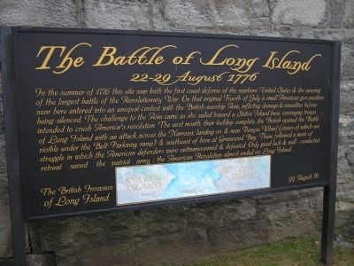 The Battle of Long Island Marker image. Click for full size.