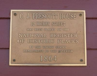 C. J. Prescott House Marker image. Click for full size.