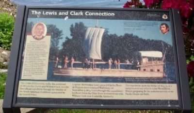 The Lewis and Clark Connection Marker image. Click for full size.