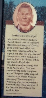 Patrick Gass on The Lewis and Clark Connection Marker image. Click for full size.