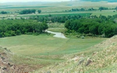 Sioux warriors forded the river here to attack Custer's troops image. Click for full size.