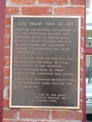 The Great Fire of 1875 Marker image. Click for full size.