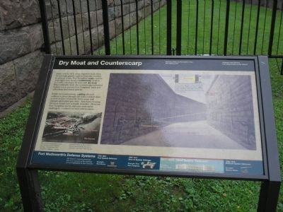 Dry Moat and Counterscarp Marker image. Click for full size.