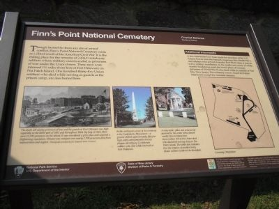 Finn's Point National Cemetery Marker image. Click for full size.