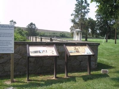 Markers in Finn's Point National Cemetery image. Click for full size.