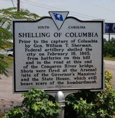 Shelling of Columbia Marker image. Click for full size.