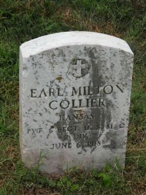 Earl Collier's Headstone and Gravesite image. Click for full size.
