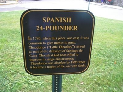 Spanish 24-Pounder Marker image. Click for full size.