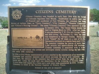 Citizens Cemetery Marker image. Click for full size.