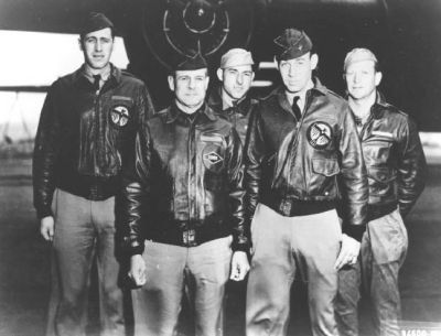 Plane 1 Crew: Henry Potter, James Doolittle, Fred Braemer, Richard Cole, Paul Leonard image. Click for full size.