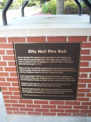 City Hall Fire Bell Marker image. Click for full size.