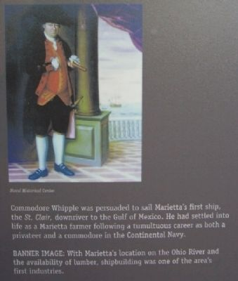 Commodore Whipple Painting on Sails and Steam Marker image. Click for full size.