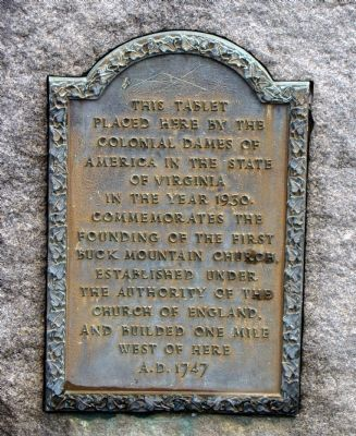 First Buck Mountain Church Marker image. Click for full size.