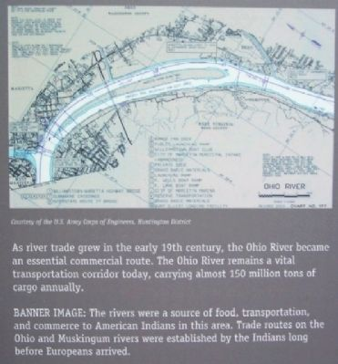 Ohio River Map on The Highway West Marker image. Click for full size.