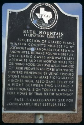 Blue Mountain Marker image. Click for full size.