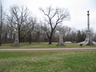Indiana Regimental Monuments and Iowa Memorial image. Click for full size.