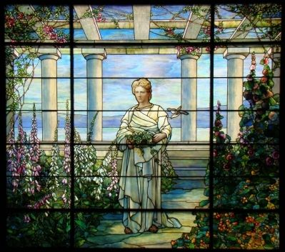 Twelve Foot Wide Tiffany Window at Swannanoa image. Click for full size.