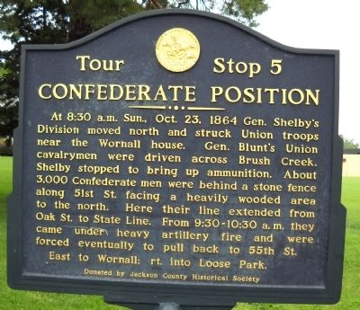 Confederate Position Marker image. Click for full size.