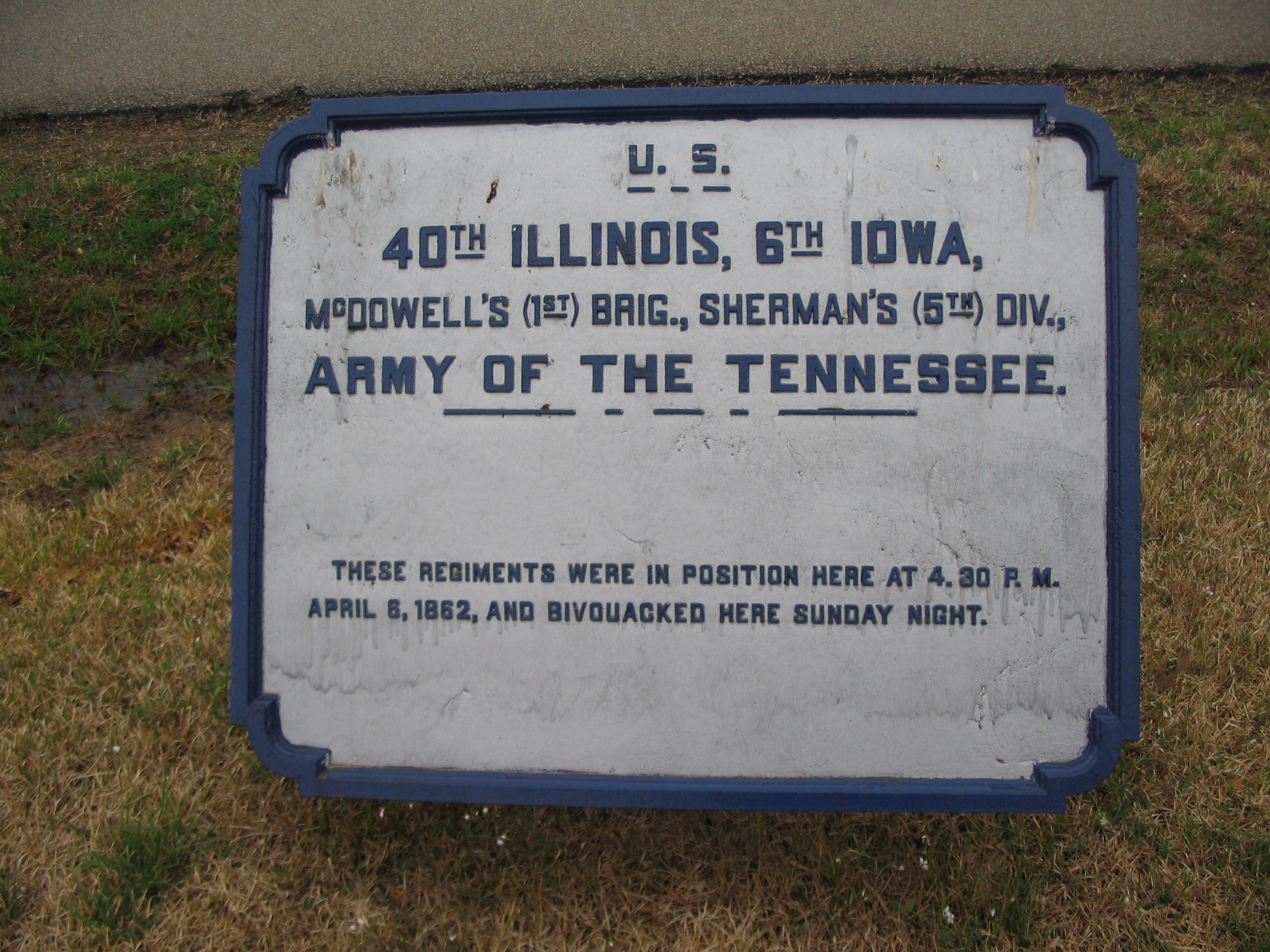 40th Illinois - 6th Iowa Infantry Regiments Tablet